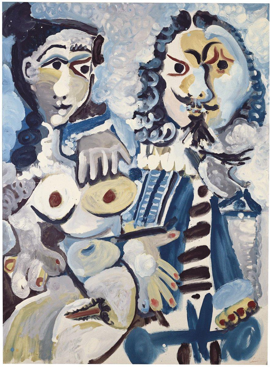Pablo Picasso's Mousquetaire et nu assis