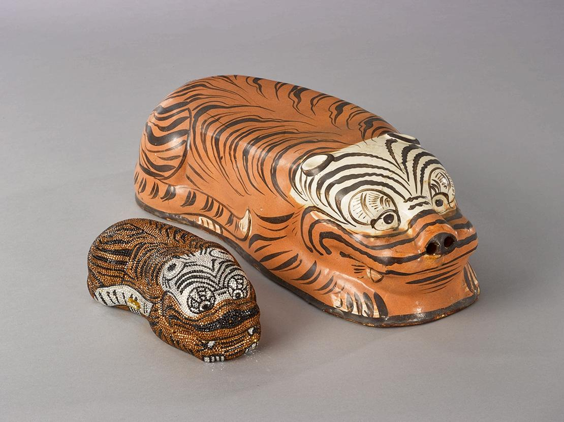 Cizhou' Tiger-Form Pillow (Shown Alongside The Tiger Minaudiere Courtesy The Kelly Ellman Collection)
