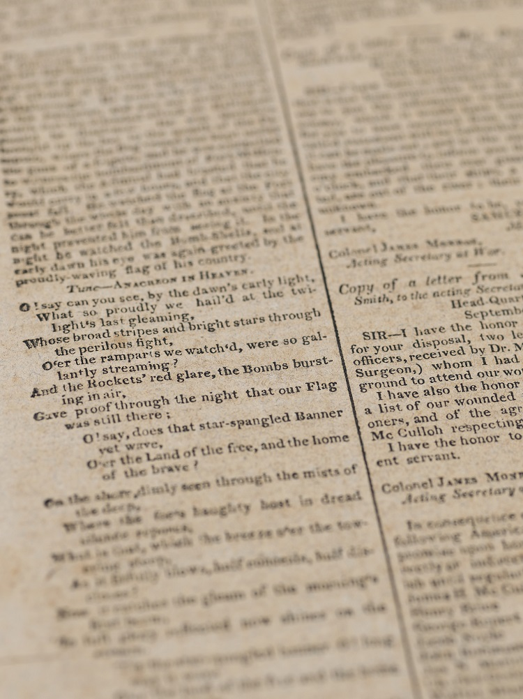Rare First Printing of the Star-Spangled Banner To Te Sold By Christie's