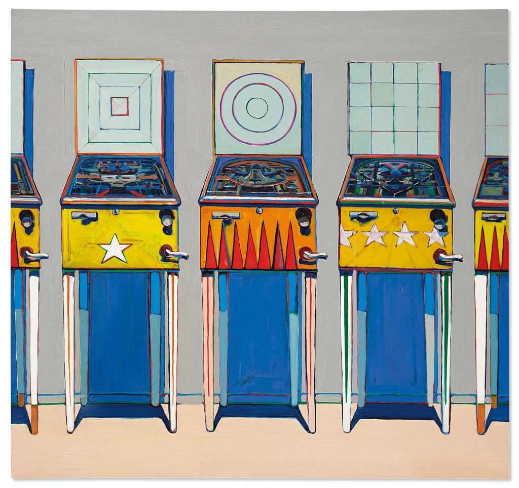 Wayne Thiebaud's Four Pinball Machines Expected To Sell For $25 Million