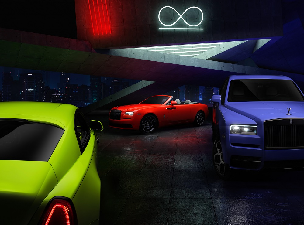Rolls-Royce Lights Up Black Badge Family With 'Neon Nights' Paint Trilogy