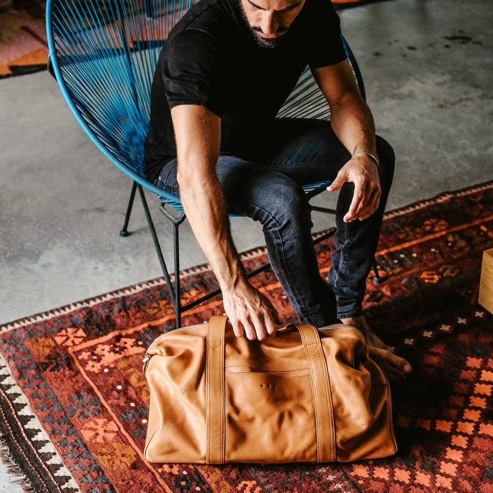 11 Thoughtful Gifts for Fashionable Gentlemen: A Holiday Shopping Guide | Kmana Chatwin Duffle Bag
