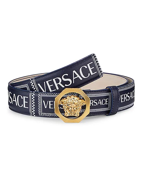 11 Thoughtful Gifts for Fashionable Gentlemen: A Holiday Shopping Guide | Versace Medusa Leather Belt