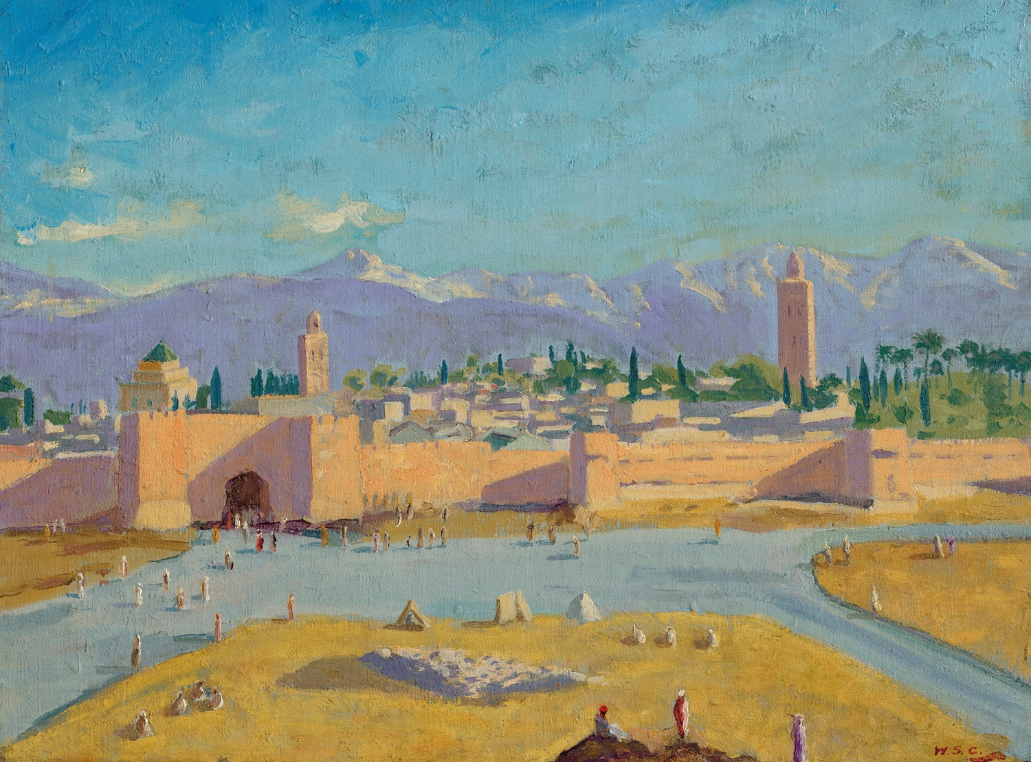 Sir Winston Churchill's Only Wartime Painting To Be Sold